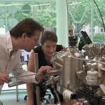 Dr Joris Keizer (l) and Prof Michelle Simmons.