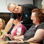 Teachers develop classroom resources inspired by CSIRO Future scenarios, facilitated by CSIRO education specialist, Bill Flynn.  Image Credit: STEM X Academy