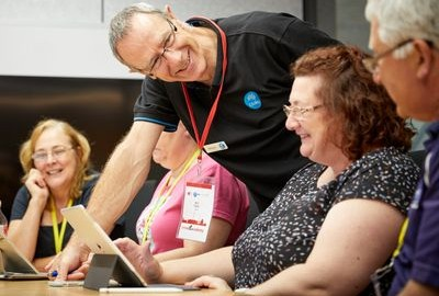 Teachers develop classroom resources by inspiration CSIRO Future scenarios, facilitated by CSIRO education specialist, Bill Flynn Image Credit: STEM X Academy